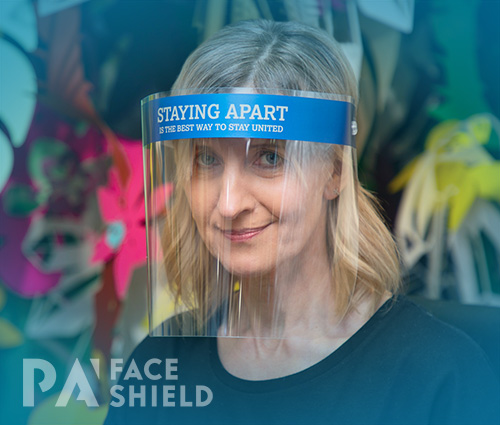 An image of 'Staying Apart - Stay United' Protective Face Shield