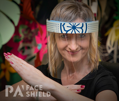 An image of 'Lotus Flower' Protective Face Shield