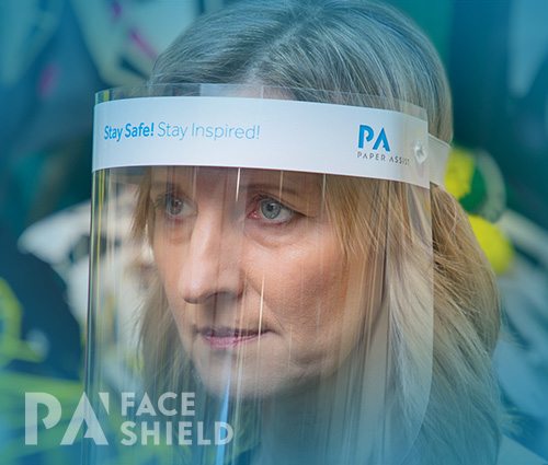 An image of 'Stay Safe, Stay Inspired' Protective Face Shield
